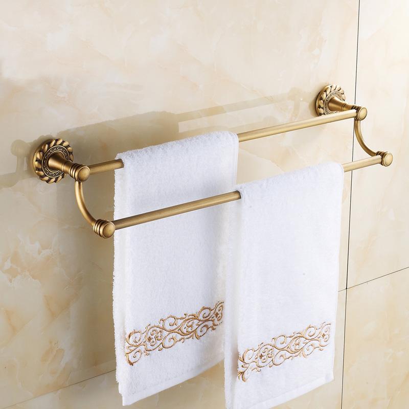 Accessoire de bain barre porte serviette vintage for Barre porte serviette salle de bain