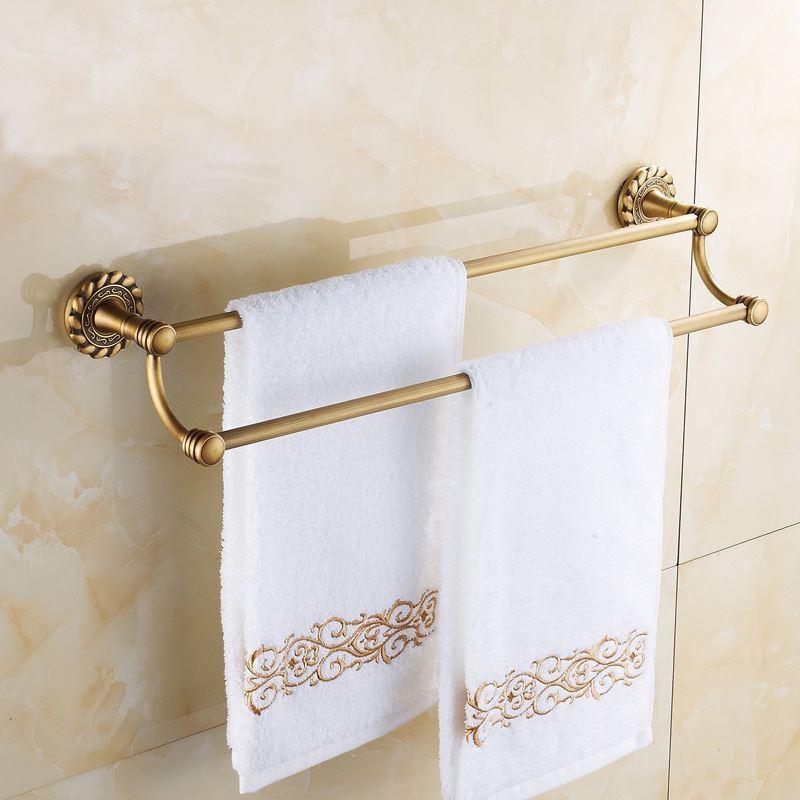 accessoire de bain barre porte serviette vintage accessoires de salle de serviette double. Black Bedroom Furniture Sets. Home Design Ideas