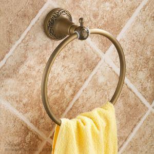 (Entrepôt UE) Vintage Salle de bains Accessoires Anneau Antique européen en laiton porte-serviettes