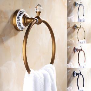 (Entrepôt UE) Vintage Salle de bains Accessoires Anneau Antique européen porte-serviettes