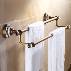 Accessoires Vintage de salle de bain Porte-serviettes style européen Antique laiton-serviettes