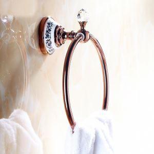 (Entrepôt UE) Style européen accessoires de salle de bain Rose Or Porte-serviettes