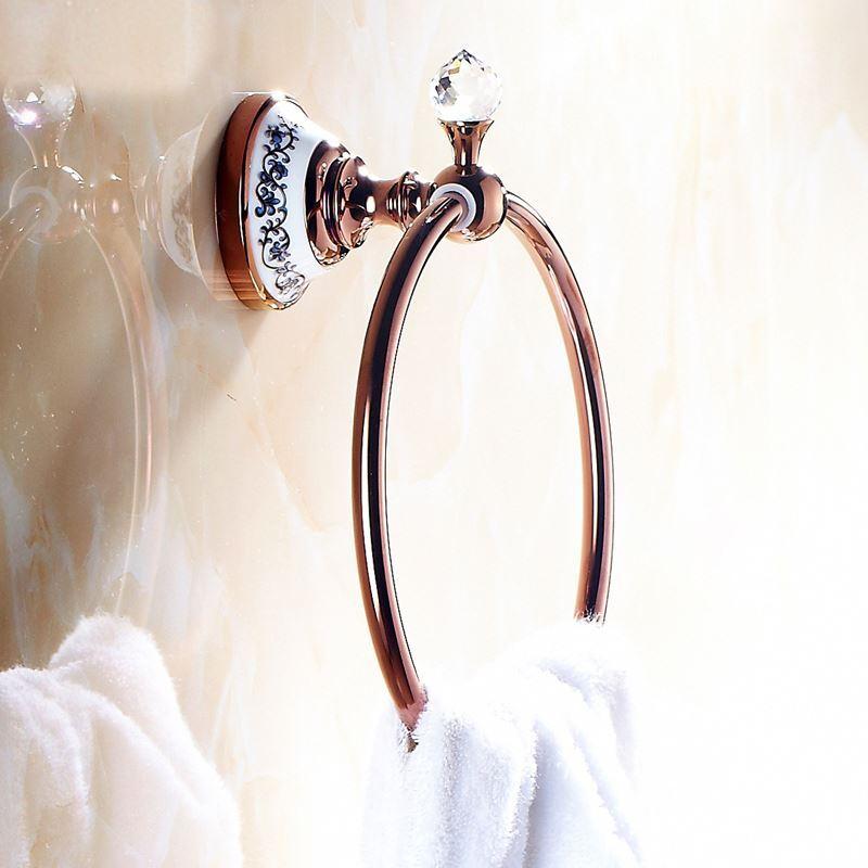 Bain porte serviette anneaux entrep t ue style for Accessoires salle de bain rose