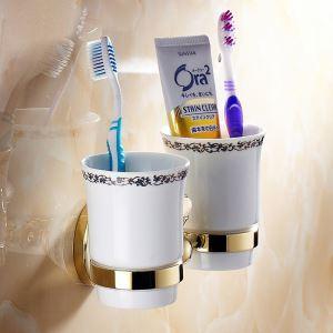 (Entrepôt UE) Moderne Accessoires de salle de bain Ti-PVD laiton Titulaire porte de brosse à dents