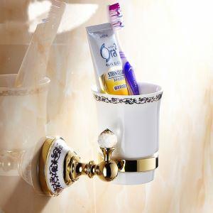 (Entrepôt UE) Moderne Accessoires de salle de bain Ti-PVD laiton Titulaire porte brosse à dents