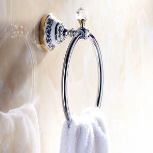 (Entrepôt UE) Salle de bains moderne Anneau Accessoires  Galvanisé laiton porte-serviettes