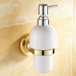 (Entrepôt UE) Salle de bains moderne Titulaire Accessoires Ti-PVD en laiton distributeur de savon