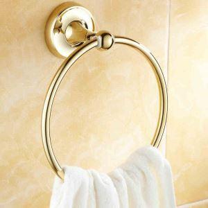(Entrepôt UE) Salle de bains moderne Anneau Accessoires Ti-PVD en laiton serviette