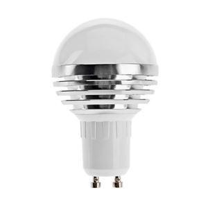 (Entrepôt UE) GU10 Ampoule LED 3W Lumière 240lm Angle de faisceau 180 ° SMD 5050 AC85-265V Argent Globe Ampoule Led