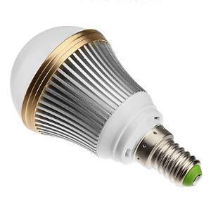 (Entrepôt UE) E14 Ampoule LED 3W Lumière 240lm Angle de faisceau 180 ° SMD 5050 KAC85-265V Argent Globe Ampoule Led