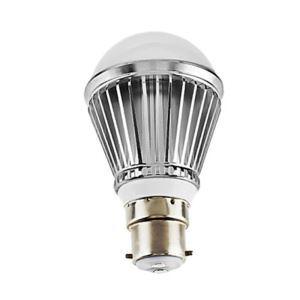 (Entrepôt UE) B22 Ampoule LED 3W Lumière 240lm Angle de faisceau 180 ° SMD 5050 AC85-265V Argent Globe Ampoule Led