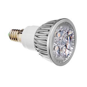 Spotlight E14LED Couleur Argent 4 * 1W360lm 25-40 ° WW300K-3500K / NW4500K / CW6000-6500KAC85-256V