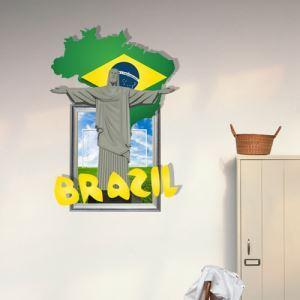 Coupe du Monde de l'art Papier mural 3D revêtements muraux PVC sticker lavables mur