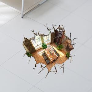 Papier murale 3D Sous-sol revêtements muraux PVC lavables Stickers mur art