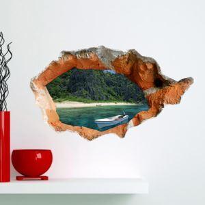 Art Papier murale 3D Seabeach revêtements muraux PVC sticker lavables mur