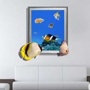 Art mural Papier 3D mer revêtements muraux PVC sticker lavables mur