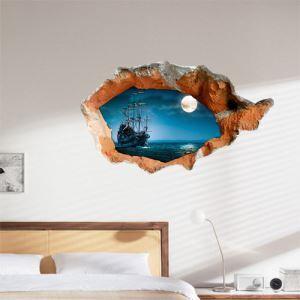 Style moderne Papier mural 3D Paysage revêtements muraux PVC lavables sticker mural  pour chambre salle