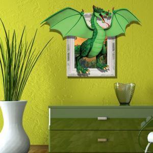 Style d'animation Paper murale 3D à motif de dinosaure herbivore revêtements muraux PVC sticker mural lavables pour chambre garçon salle