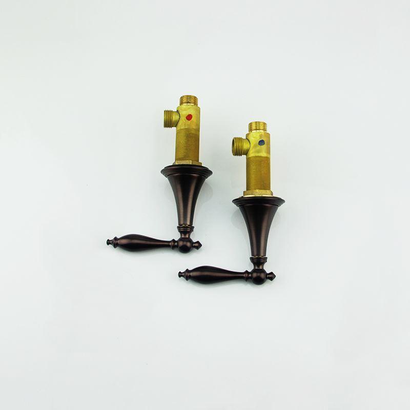 robinet de baignoire bronze huil 3 trous 2 poign es pour. Black Bedroom Furniture Sets. Home Design Ideas