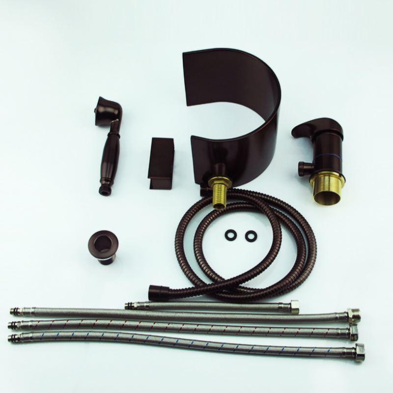 robinet baignoire huil bronze mitigeur 3 trous avec. Black Bedroom Furniture Sets. Home Design Ideas