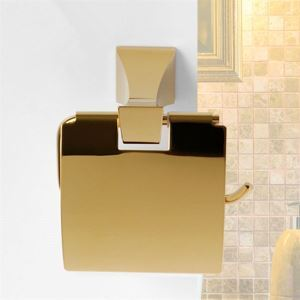 Porte papier toilette contemporaine Ti-PVD Laiton Salle de bain