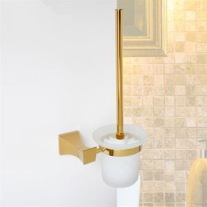 (Entrepôt UE) Accessoires de salle de bain en laiton massif porte-brosses à toilettes (0640-3206)