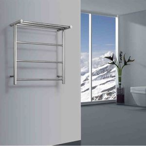 Sèche-serviettes électrique à inertie fluide thermostatique 40W pour salle de bains