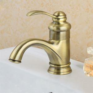 (Entrepôt UE) Antique inspirée robinet de lavabo en laiton - fini laiton poli