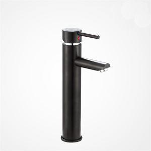 (Entrepôt UE) Robinet de lavabo vasque noir finition peinture pour salle de bains