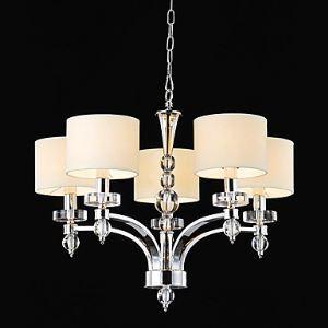 Lustre à 5 lampes style moderne et élégant pour salon chambre