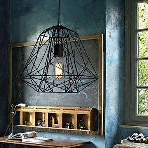 (Entrepôt UE) Hive Lustre Pendentif, 1 Lumière, Creative fer noir peinture