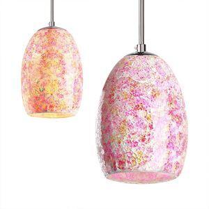 Suspension décoration 1 lumière tiffany résine peinture en verre lampe colorée pour salle