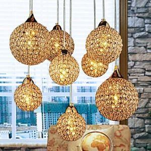 (Entrepôt UE) Lustres d'or à 8 lampes suspensions design luminaire pour salon cuisine chambre hall