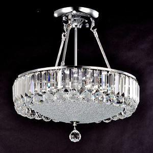 Plafonnier cristal moderne élégant rond goutte