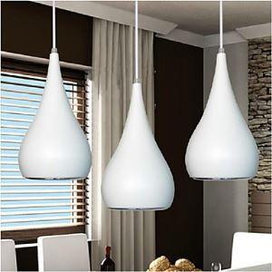 (Entrepôt UE) 18w moderne Lustre LED Lumière Goutte Forme Restauration lumière chambre AC85-265v