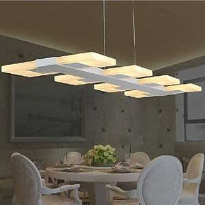 salle à manger-salon  conduit Lampes Suspendues acrylique