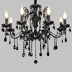 Style classique Lustre en métal Cristal avec 8 Lumières pour salon chambre