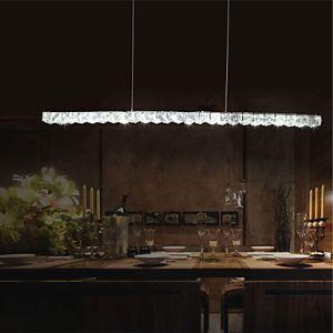 (Entrepôt UE) Lustre Lampe Suspendue - Moderne - avec Cristal/LED - Métal