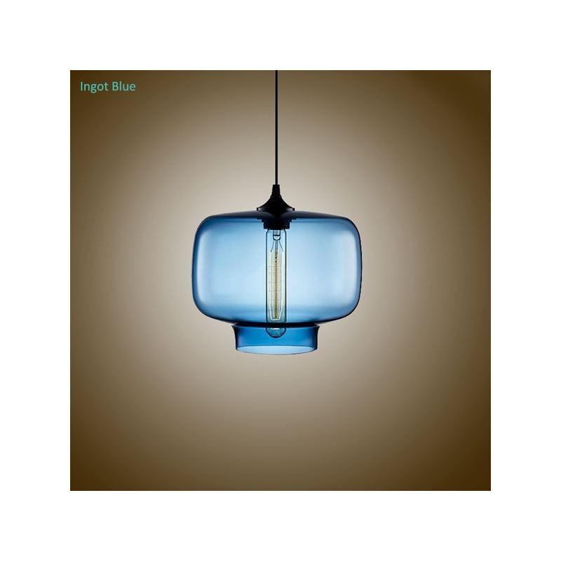 Suspension en verre bouteille d25cm luminaire design pour for Suspension verre pour cuisine