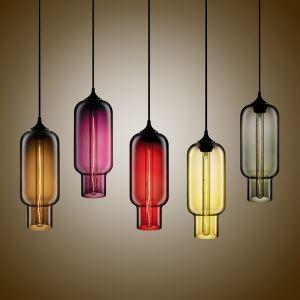 (Entrepôt UE)Moderne Lustre en verre lampe suspendue en conception de bulle luminaire coloris pour cuisine chambre salle