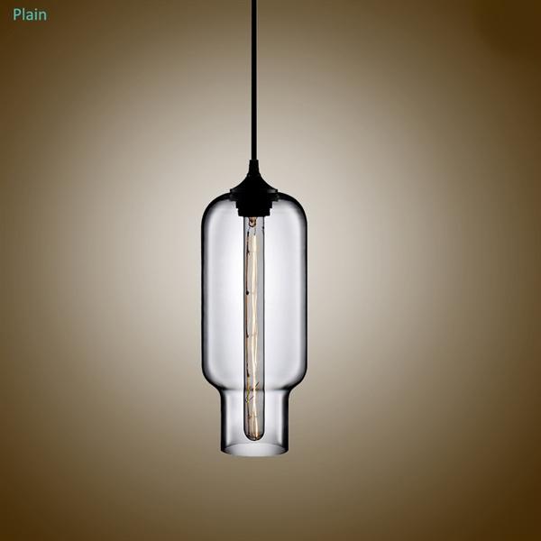 suspension en verre lampe bulle h33cm luminaire coloris pour cuisine chambre salle. Black Bedroom Furniture Sets. Home Design Ideas