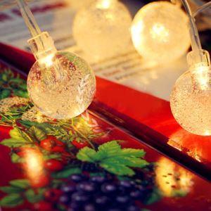 Noël romantique Colorful Cristal LED BALL Guirlandes étanche