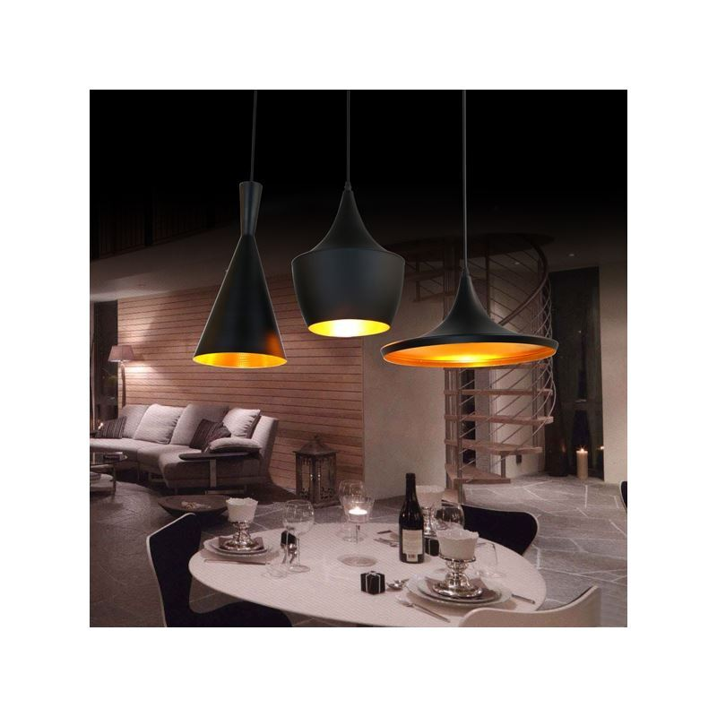 Lustre plafonnier 3 lampes suspension style industriel for Suspension luminaire 3 lampes