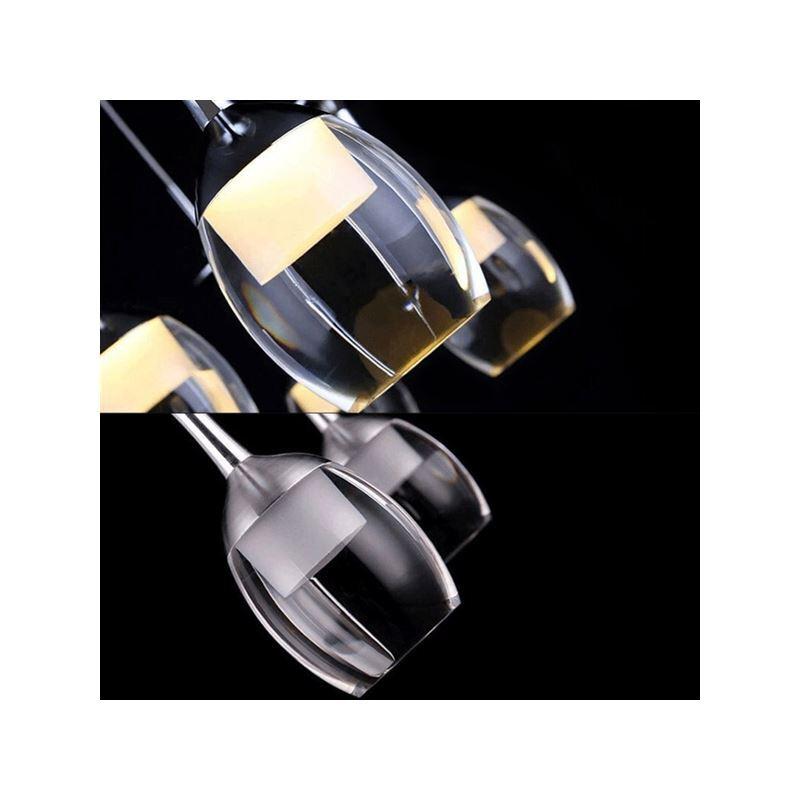 plafonnier 3 lumi res led d25cm 3wx3 verre vin tasse moderne suspension cuisine bar couloir. Black Bedroom Furniture Sets. Home Design Ideas