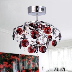 5W 26cm Cristal Lumière Pendantif Lustre Lampe pour Salon-chambre luxueuse salle à manger Plafonnier