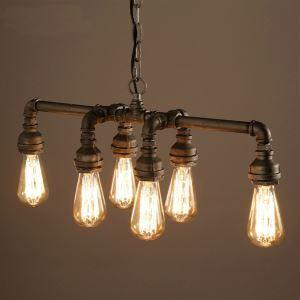Lampe Suspendue Suspension en Métal 6 lumières pour salle chambre cuisine