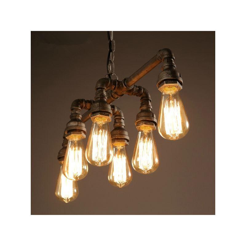 Lampe suspendue suspension en m tal 6 lumi res pour salle for Lampe suspendue chambre