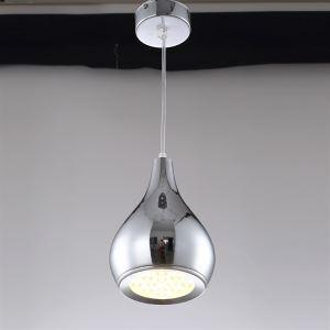 (Entrepôt UE) Lampes Suspendues 12w conduit gourde drop Lumière placage couleur argent pour salle couloir restaurant
