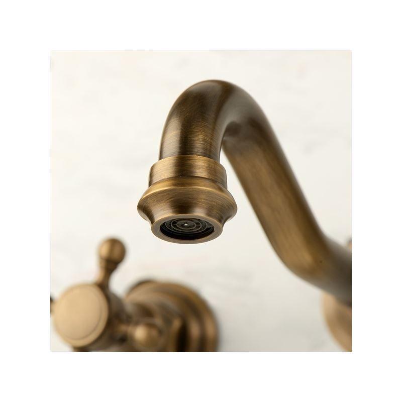 robinet de lavabo eau froide laiton antique 2 poign es pour salle de bains pas cher. Black Bedroom Furniture Sets. Home Design Ideas