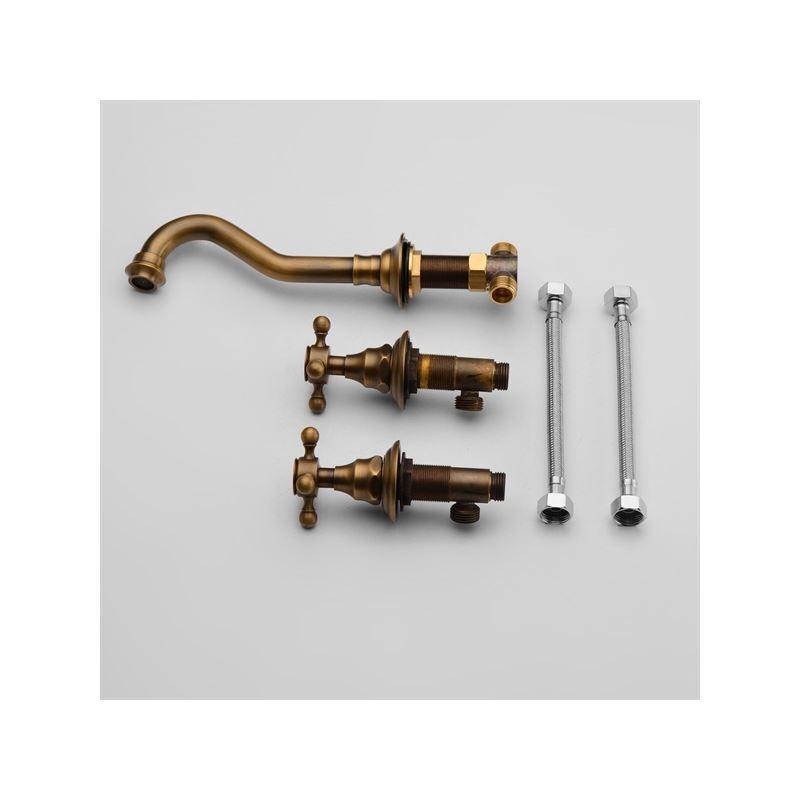 robinet de lavabo eau froide en cuivre poli antique pour. Black Bedroom Furniture Sets. Home Design Ideas